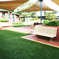 Artificial grass for school areas