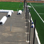 Installation of synthetic grass courts